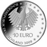 Единый реверс серебрянных немецких монет 2009 года