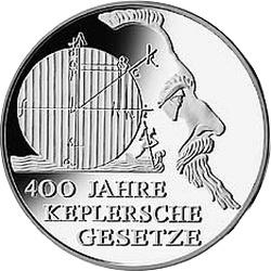 Германия, 10  евро, законы Кеплера, аверс