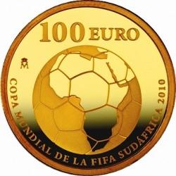 Испания, 100 евро, ЧМ по футболу-2010, реверс