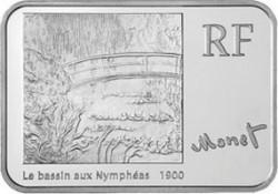 Франция, 2009, 5 евро, Клод Моне, реверс