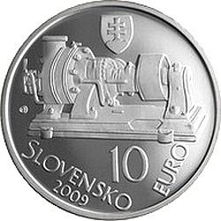 Словакия, 2009, 10 евро, Аурель Стодола, аверс