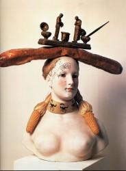 Ретроспективный бюст женщины (1933, раскрашенный фарфор)