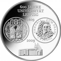 Германия, 2009, 10 евро, 600 лет Лейпцигскому университету, аверс