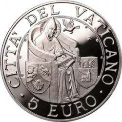 Ватикан, 2006, 5 евро, Международный день мира, реверс