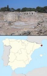 Эмпорион на карте Испании, сейчас там одни руины...