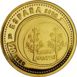 Испания 20 евро, Октавиан Август, Emerita, аверс