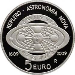 Сан-Марино, 5 евро, 2009, Кеплер, реверс
