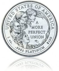 "Платиновая монета ""Американский орёл"" 2009 года"