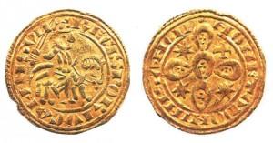 Морабитино, выпущенный при короле Саншу II