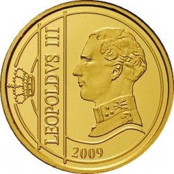 Бельгия, 12.5 евро, 2009, Леопольд III, аверс