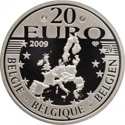 Бельгия, 20 евро, отец Дамиан, реверс