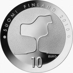 Финляндия, 10 евро, Ээро Сааринен, реверс