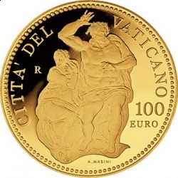 Ватикан, 100 евро, 2010, Страшный суд, реверс