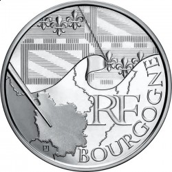 Франция, 10 евро, 2010, Бургундия