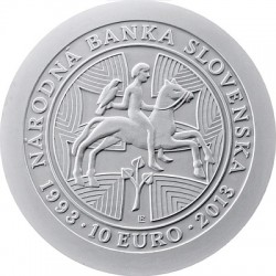 10 euro. 20th anniversary of the foundation National Bank of Slovakia