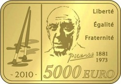 Франция, 5000 евро, Пикассо