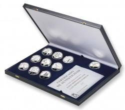 Набор 7-й Иберо-Американской серии монет, выпущенный Королевским монетным двором Испании