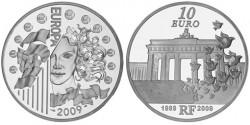 Франция, 10 евро,«Берлинская стена»