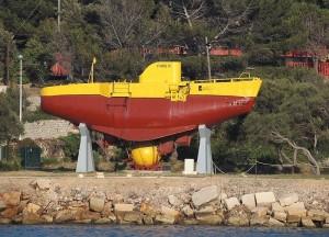FNRS-3 на берегу Средиземного моря у г.Тулон