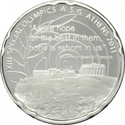 Greece 2011. XIII SPECIAL OLYMPICS WORLD SUMMER GAMES. Acropolis. 10 euro