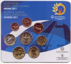 "Greece KMS 3.88 euro - ""XIII SPECIAL OLYMPICS WORLD SUMMER GAMES"""