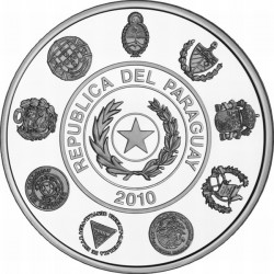 Paraguay 2010, 1 guaraní. Iberoamericana.