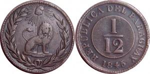 Paraguay. 1/12 peal - cobrecito de león