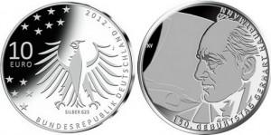 """10 евро """"150 лет со дня рождения Герхарта Гауптмана"""""""
