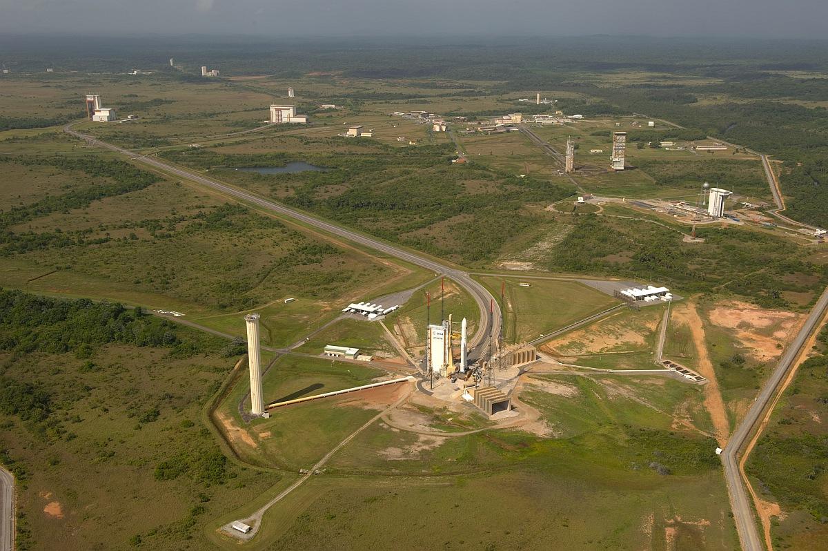 Вид на космодром Куру