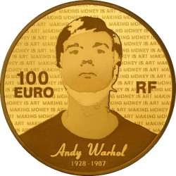 France 2011. 100 euro. Andy Warhol
