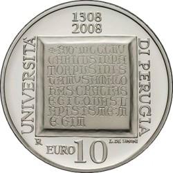 Италия, 10 евро (700 лет Университету Перуджи)