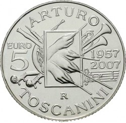 Italy 2007. 5 euro Arturo Toscanini