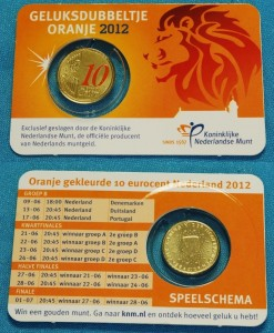 Orange Lucky 10 Cent Coin Card