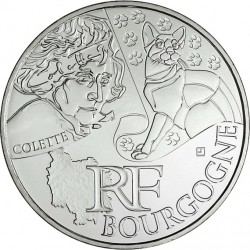 France 2012. 10 euro. Bourgogne. Sidonie Gabrielle Colette