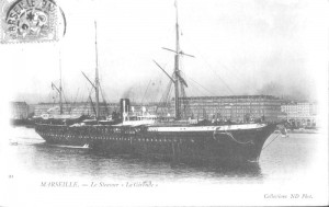 Пароход «Жиронда» (La Gironde), фото 1887 г.