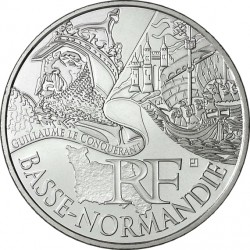France 2012. 10 euro. Basse-Normandie. William I the Conqueror