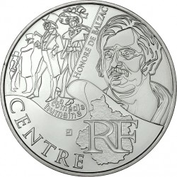 France 2012. 10 euro. Center. Honoré de Balzac