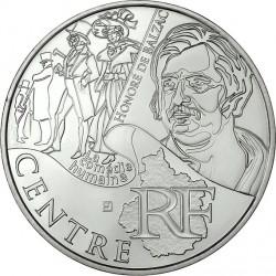 France 2012. 10 euro. Center. Honoré de Balzac