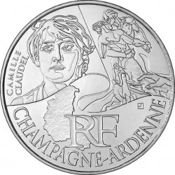 France 2012. 10 euro. Champagne-Ardenne. Camille Claudel