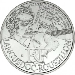 France 2012. 10 euro. Languedoc-Roussillon. Georges Brassens