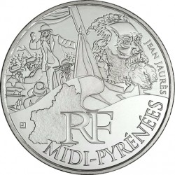 France 2012. 10 euro. Midi-Pyrénées. Georges Brassens