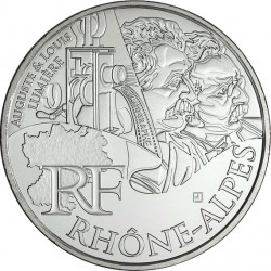 France 2012. 10 euro. RHONE – ALPES. Auguste & Louis Lumiere