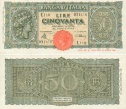 50 Lira italiana 1944