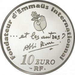 france 2012. 10 euro. 100th Anniversary of abbe' Pierre's birth