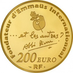 france 2012. 5 euro. 100th Anniversary of abbé Pierre's birth