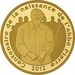 france 2012. 5 euro. 100th Anniversary of abbé Pierre's birth