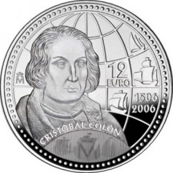Spain 2006. 12 euro Christopher Columbus 5th Centenary