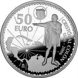 Spain 2006. 50 euro Christopher Columbus 5th Centenary