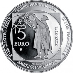 San Marino 2012. 5 euro. Amerigo Vespucci