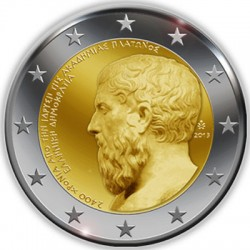 2 euro. Greece 2013. The 2400th Anniversary of the founding of Plato's Academy